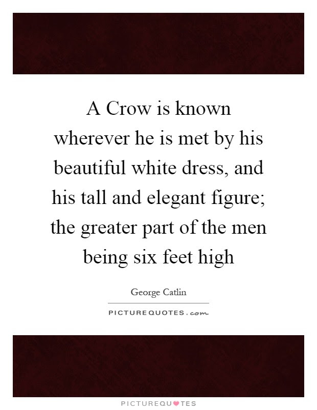A Crow Is Known Wherever He Is Met By His Beautiful White Dress