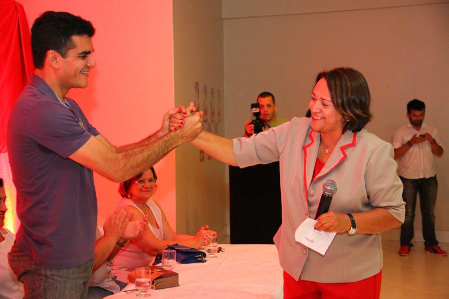 Cinco vereadores e secretários municipais também declaram apoio a Fátima. (Foto: Rayane Mainara).