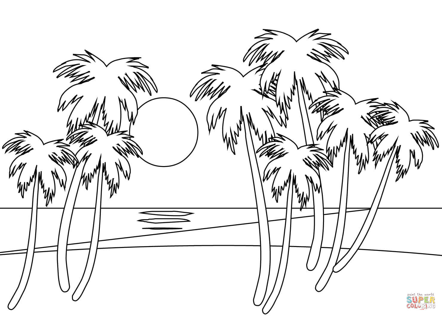 9200 Free Printable Coloring Pages Beach HD
