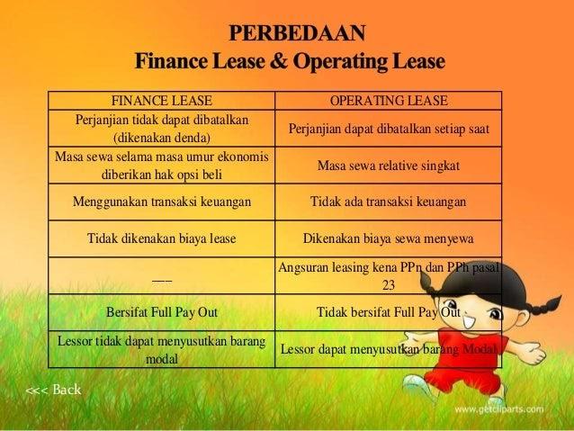 perbedaan operating lease dan capital lease