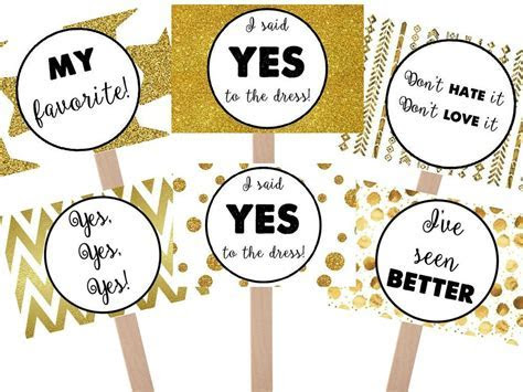 Say Yes To The Dress Black and Gold Favorite Sign and