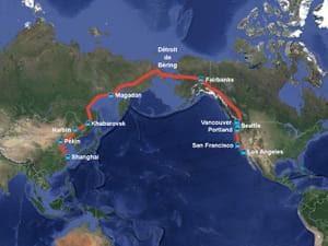 le possible tracé de la ligne transcontinentale