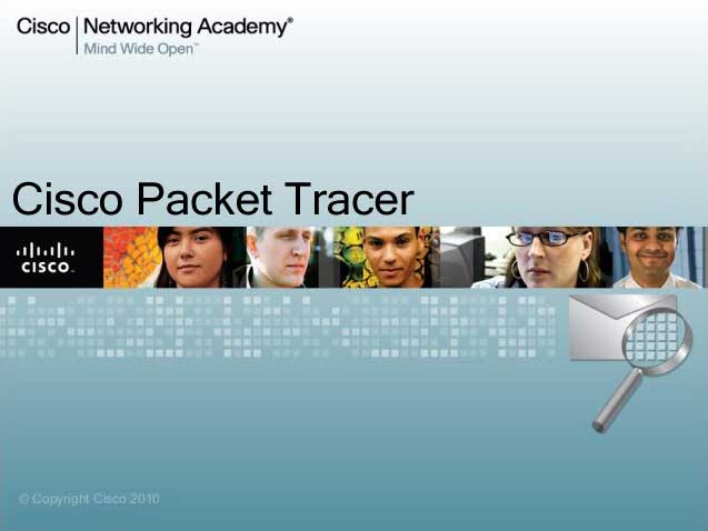 Packet Tracer 5.3 network simulation software splash screen