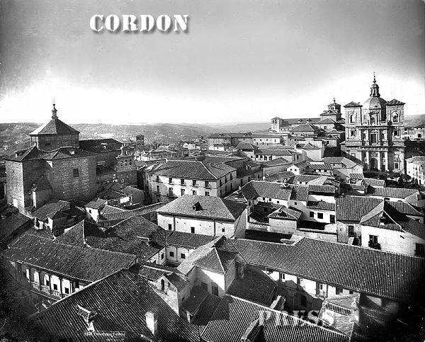 Iglesias de San Marcos y de San Ildefonso vistas desde la Catedral e Toledo hacia 1875-80. © Léon et Lévy / Cordon Press - Roger-Viollet