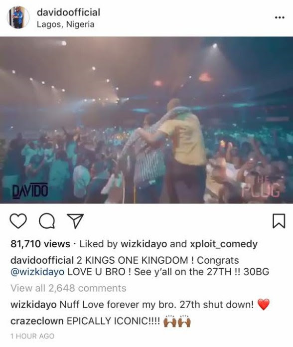 IMAGE RESULTS FOR DAVIDO AND WIZKID PERFORMANCE