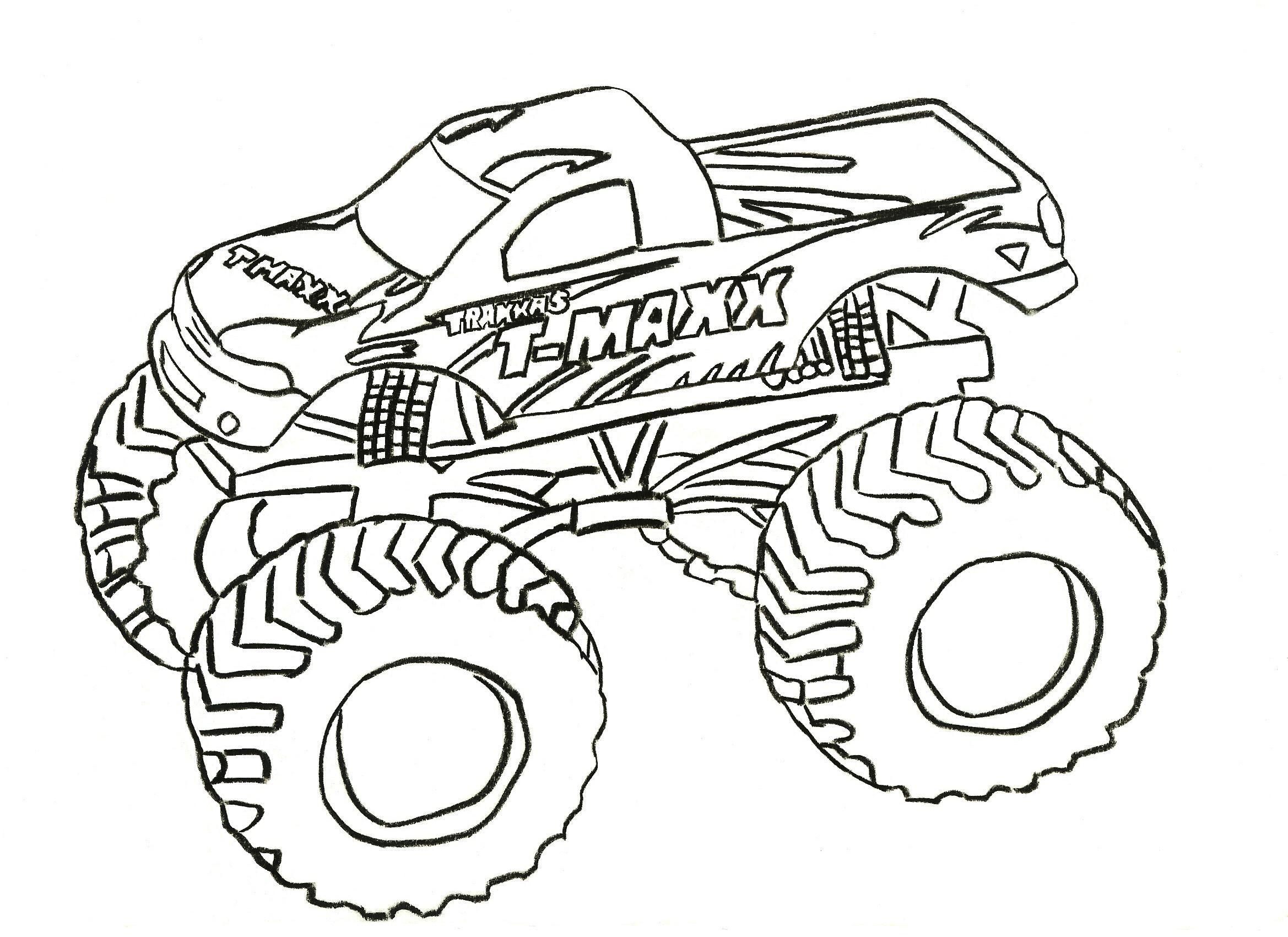 monster truck coloring pages letscoloringpages com t maxx
