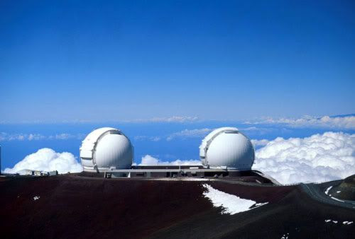 The Keck Observatory on the summit of Mauna Kea, in Hawaii.
