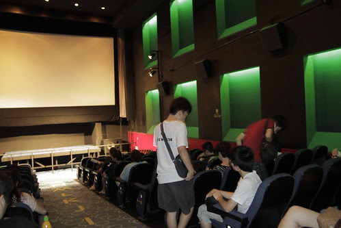 Before the screening at the Broadway Cinematheque