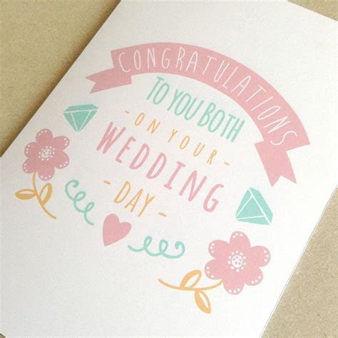 personalised congratulations wedding day card by ello