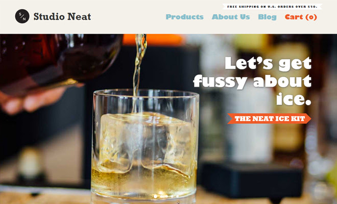 studio neat website company design