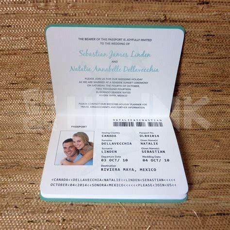 Wedding Invitation Passport Designs   wedding invitations