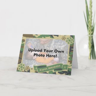 Army Camouflage Photo Template Holiday Card card