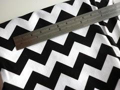18 - Zig-Zag Black & White Chevron Fabric