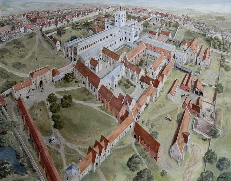 File:St Albans Abbey before dissolution painting 2011-06-20.jpg