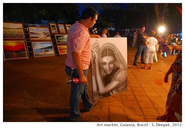 Ashwarya Rai in art market, Goiania, Brazil