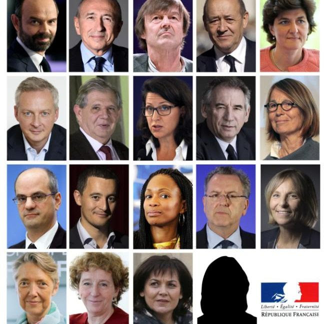 New French president Emmanuel Macron's government has been announced