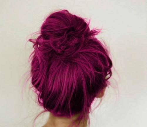 eduardafernandespeixoto:  Hairstyles / dark purple red hair
