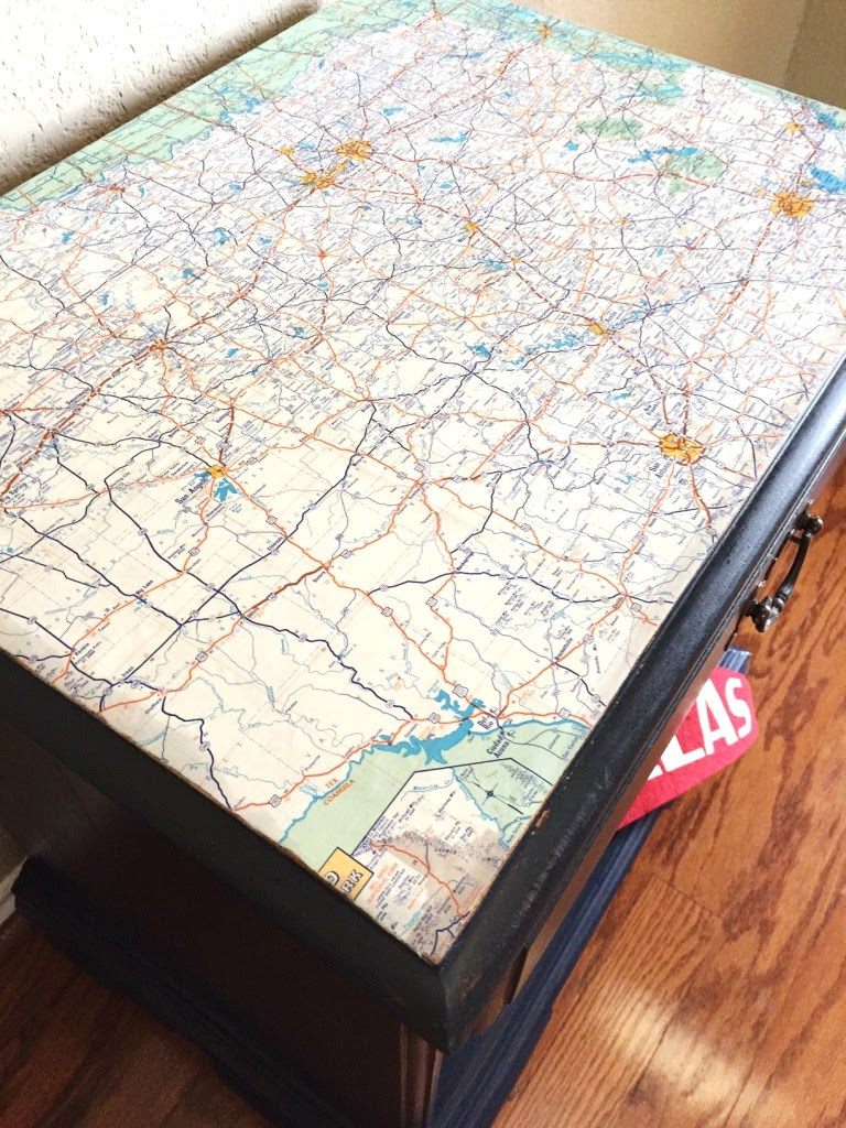 Mod Podge, Maps, and Milk Paint