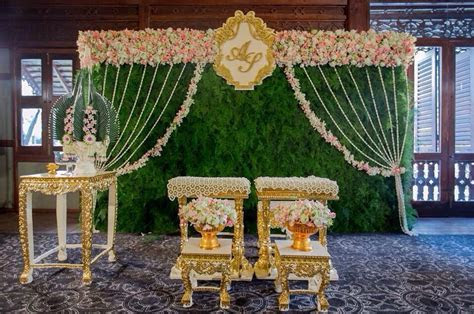 Thai style backdrop with local flowers from Chiangmai