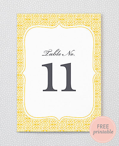 Fillmore---DIY Table Numbers