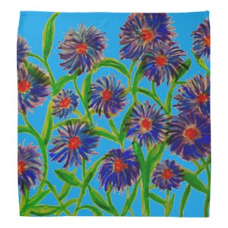 Aster Flowers on Bandana