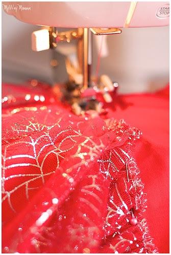 MWM Red 2 tier Halloween Skirt Oct 2012 20