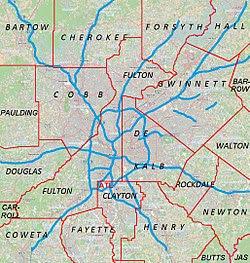 Hiram, Georgia is located in Metro Atlanta
