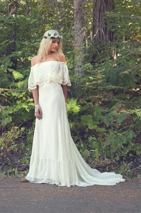 2016 Hot! Sexy Off the Shoulder A Line Bohemian Wedding