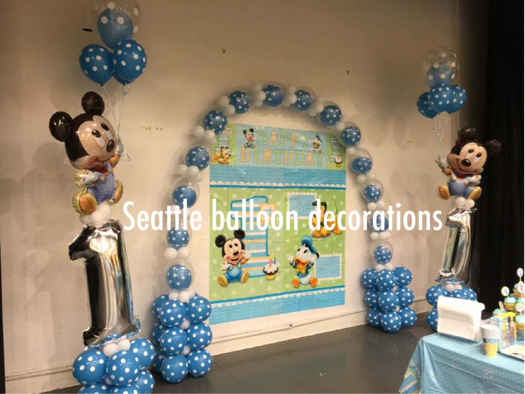 Balloon Decoration Baby Boy Birthday Decoration Ideas At Home Types Of Wood