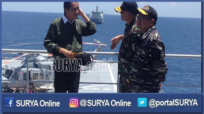 Pimpin Latihan Perang TNI AL, Jokowi Kecewa Rudal Telat Meledak