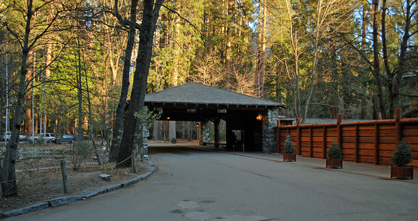 The Porte-Cochère at the Ahwahnee Hotel