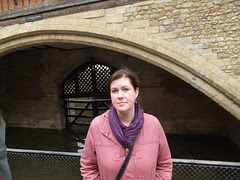 Me at Traitor's Gate, Tower of London by Nancy Dunne