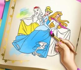 Prensesler Boyama Kitabı Oyna