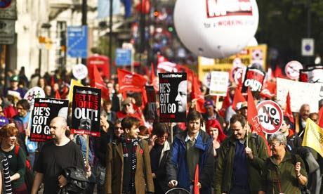Trade unions' anti-cuts march