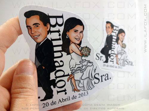 Caricatura para casamento, caricatura sr e sra smith, caricatura noivinhos, by ila fox