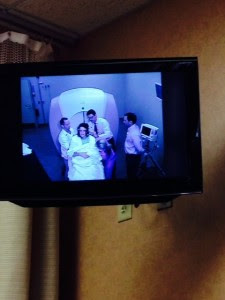 Dan got to watch the entire procedure from the patient room in the medical center. Talk about reality TV!