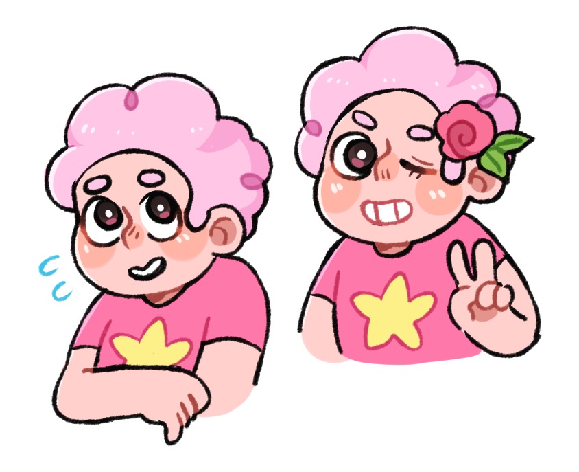 pink aint a bad look on steven 💖