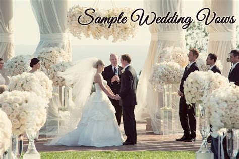 Traditional Wedding Vows   Samples for your Ceremony