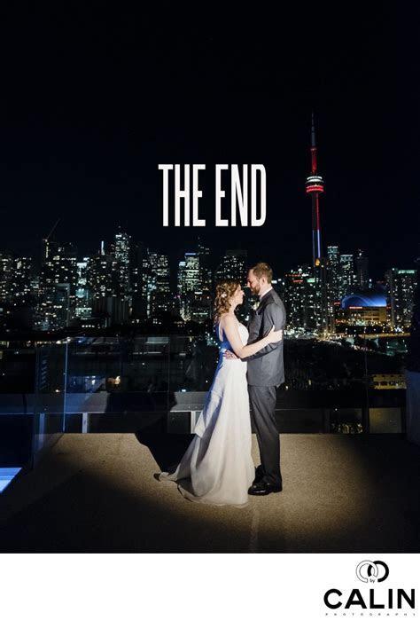 Newlyweds on Thompson Hotel Rooftop   Wedding