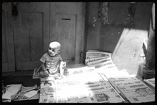 The Newspaper Seller - Marziya Shakir by firoze shakir photographerno1