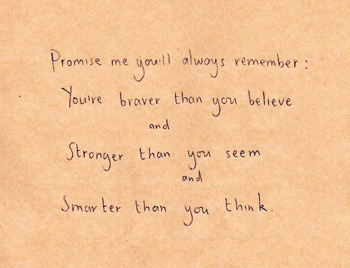 Promise Me Youll Always Remember Youve Braver Than You Believe