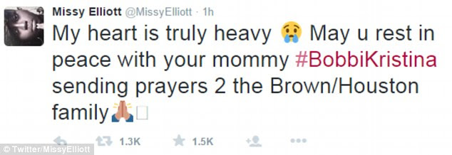 'Rest in peace with mom': Missy Elliott wrote: 'My heart is truly heavy. May u rest in peace with your mommy'