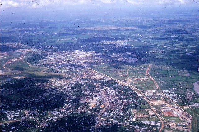 Q Gò Vấp, khu nhà nằm trong hình tam giác cạnh mép trái ảnh là Tổng Y Viện Cộng Hòa
