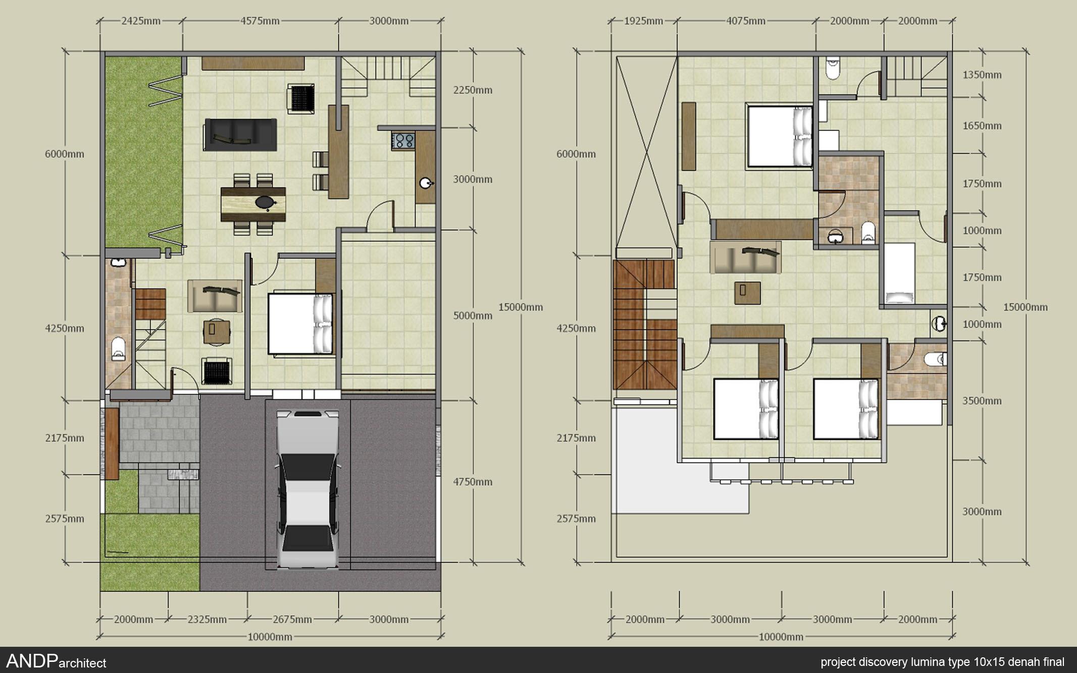 Informasi Desain Rumah Minimalis 2 Lantai Ukuran 10x15