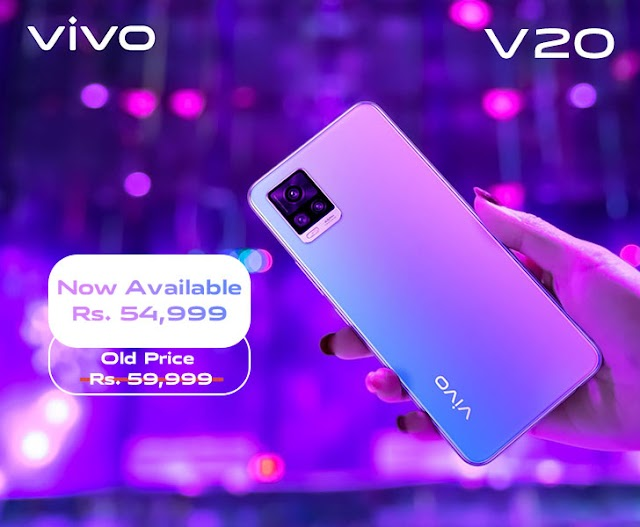 Vivo V20 Price in Pakistan Dropped by Rs 5,000; High-end Cameras, Sleek Design, & 33W Fast Charge at Rs 54,999