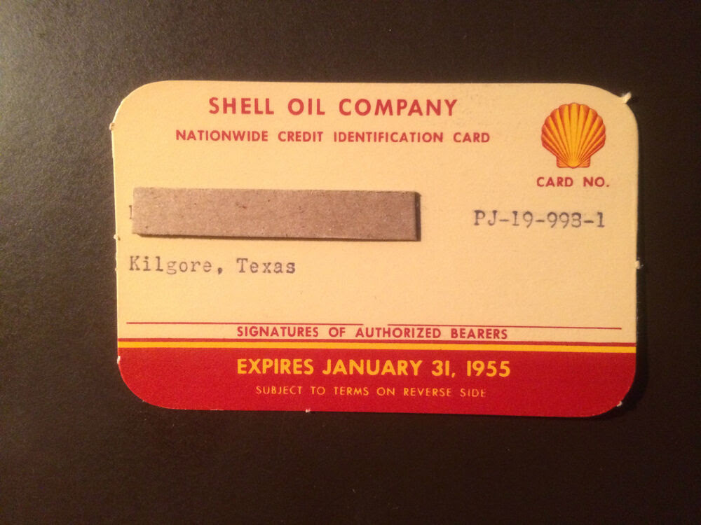 Shell Oil Company 1955 Vintage Collectors Credit Card | eBay