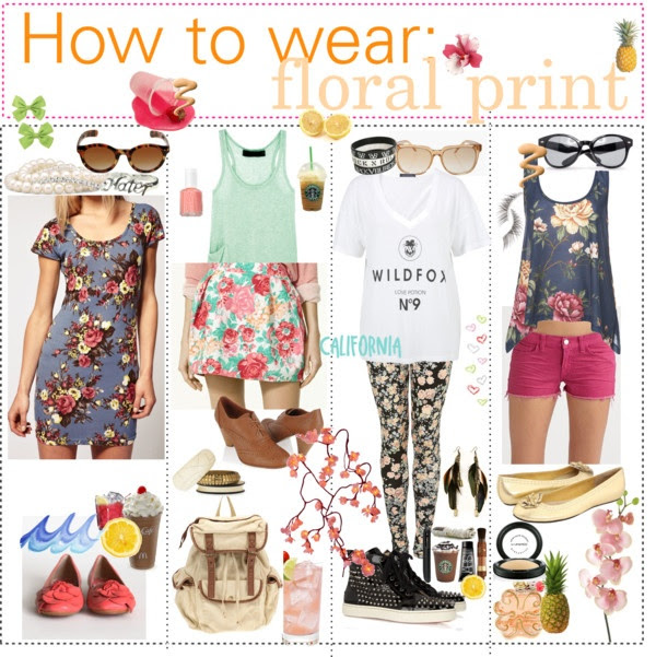 """How to wear : floral print."" by the-polyvore-tipgirls ❤ liked on Polyvore"
