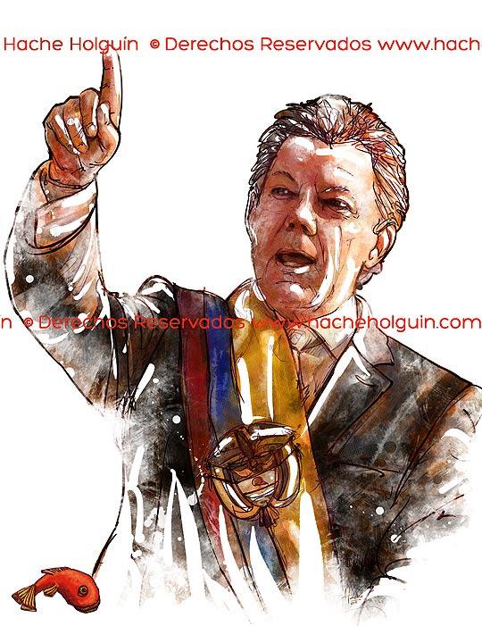Retrato Juan Manuel Santos.