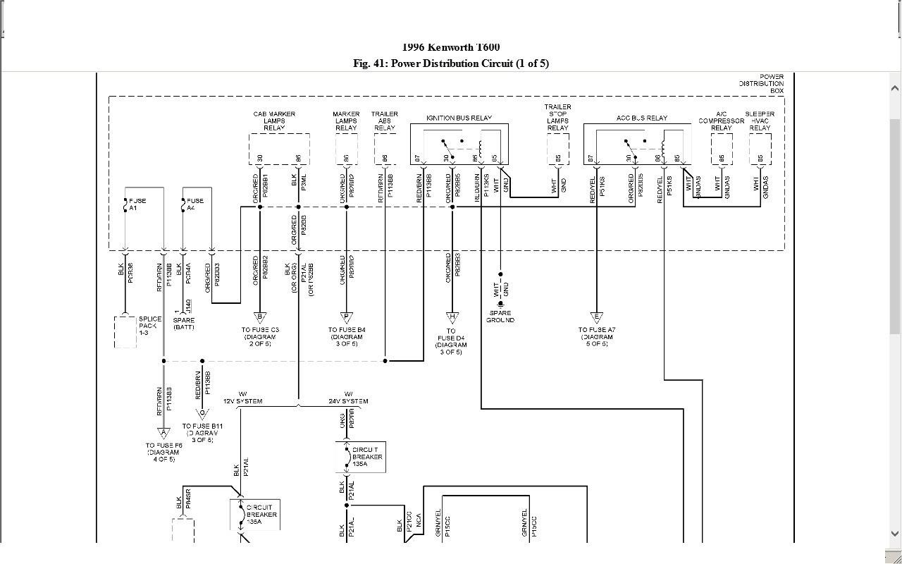Wiring Diagram PDF: 2003 Kenworth T600 Fuse Panel Diagram
