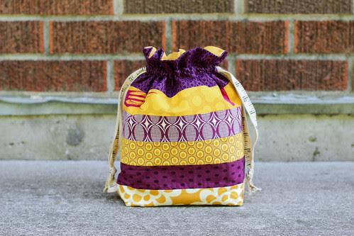 Striped Drawstring Bag Tutorial - In Color Order